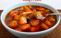 Mango pickle sweet pickle